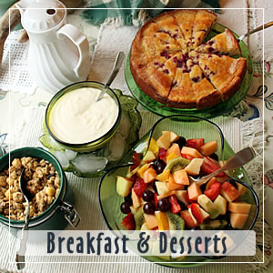 breakfast & desserts at turtle rocks inn trinidad ca